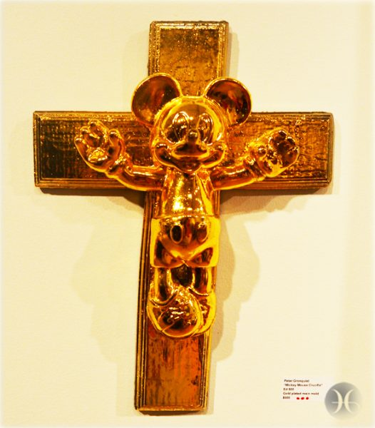 "Peter Gronquist, ""Mickey Mouse crucifix"""