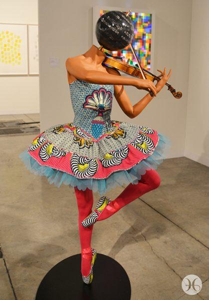 "Yinka Shonibare, ""Ballerina with violin (Gisele)"""