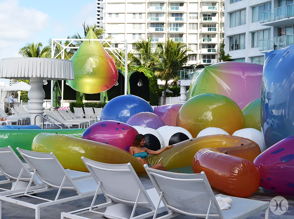 Somewhere Over the Rainbow installation for Art Basel Miami Beach at the Mondrian South Beach
