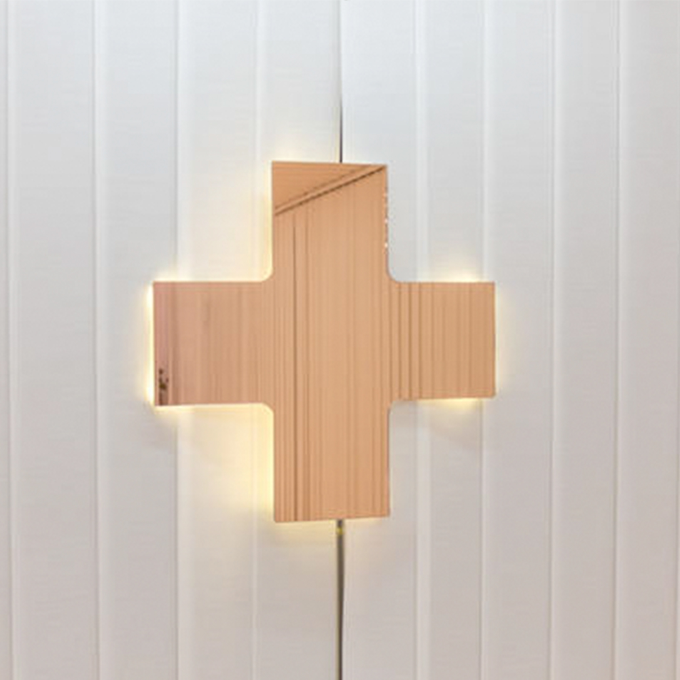 Cross-shaped mirror, Seletti for the NO SEX show by Atelier Biagetti