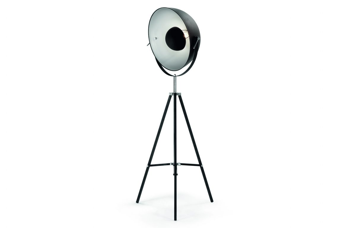 Chicago Floor Lamp Black and Silver £169