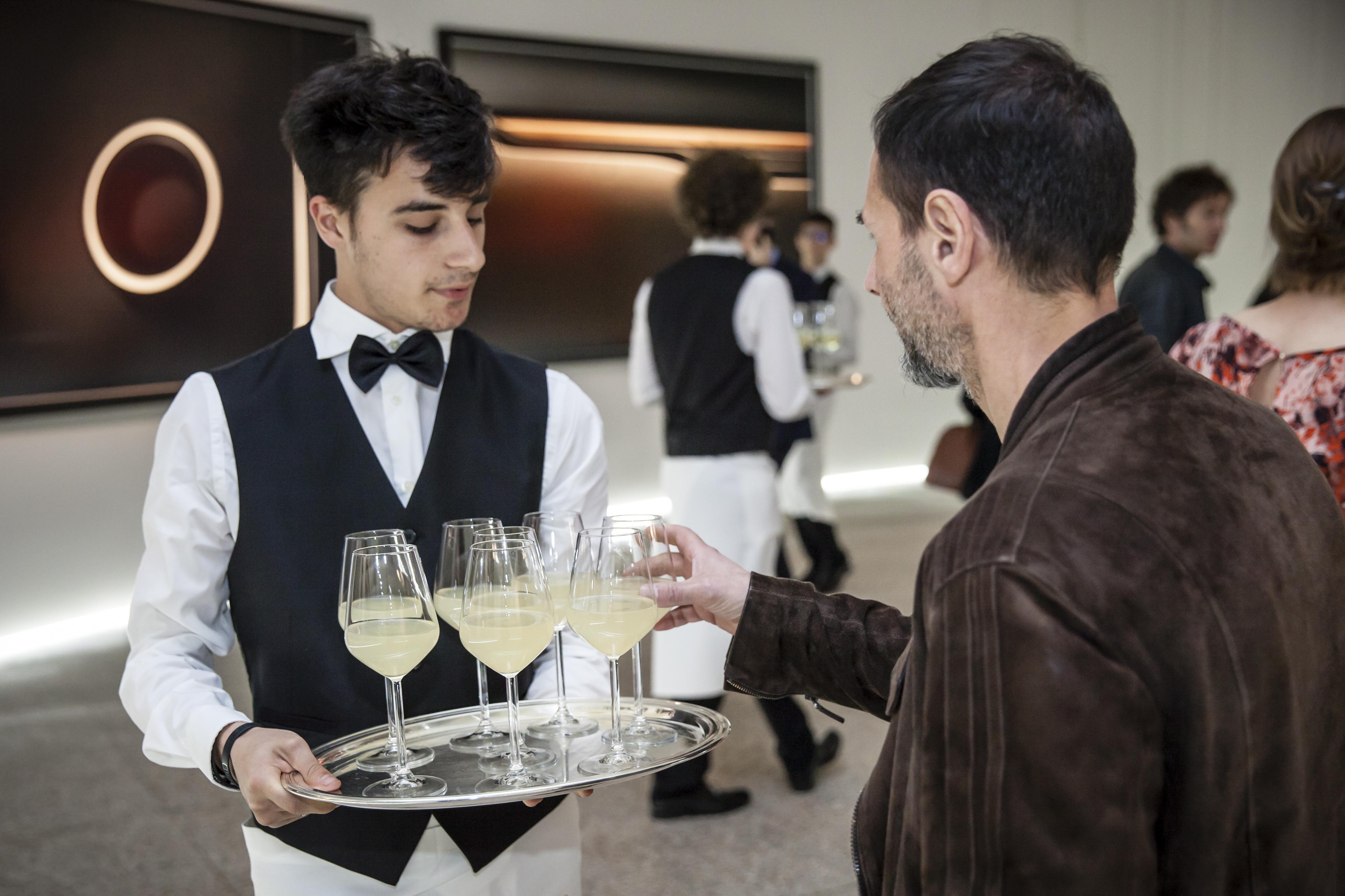 Cocktail time at Palazzo della Permanente
